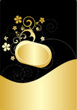 золото знамени Стоковая Фотография RF