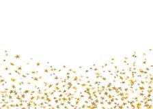 Золото играет главные роли падая confetti изолированный на белой предпосылке Партия золотого дизайна праздничная, торжество дня р иллюстрация вектора