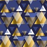 Золото и голубой элегантный геометрический repeatable мотив иллюстрация вектора
