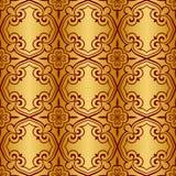 Золото и красная металлическая регулярн безшовная картина иллюстрация вектора