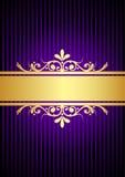 Золото и пурпуровая предпосылка иллюстрация вектора