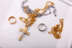 Золото и серебр Стоковые Изображения