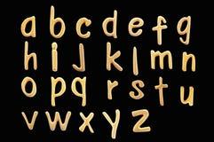 золото и старый алфавит Стоковое Изображение RF