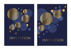 Золото и темносиний элемент геометрического дизайна конспекта цвета Стоковое Изображение