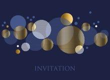 Золото и темносиний элемент геометрического дизайна конспекта цвета Стоковые Изображения RF