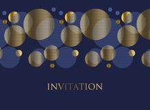 Золото и темносиний элемент геометрического дизайна конспекта цвета Стоковое Фото