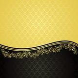 Золото и чернота - роскошная предпосылка. иллюстрация штока