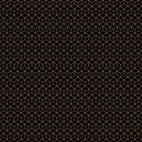 Золото картины вектора кубов стиля Арт Деко безшовное геометрическое на черноте иллюстрация штока