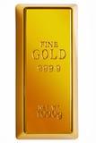 золото клиппирования штанги изолировало путь Стоковая Фотография