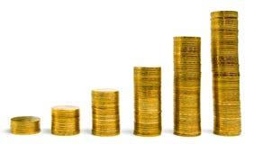 золото колонок монетки Стоковые Фото