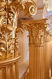 золото колонок Стоковые Фото