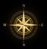 золото компаса подняло Стоковое фото RF