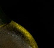 золото конденсации бутылки пива Стоковое Фото
