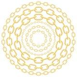 золото круга цепей Стоковое Изображение