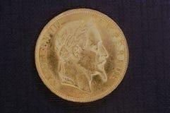 золото монетки napoleon стоковые изображения