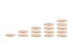 золото монеток диаграммы Стоковое Изображение RF