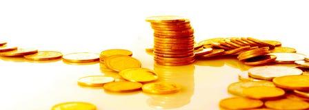 золото монеток много Стоковые Изображения RF