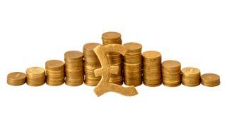 золото монеток подписывает sterling Стоковые Фотографии RF