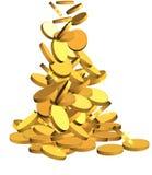золото монеток иллюстрация вектора