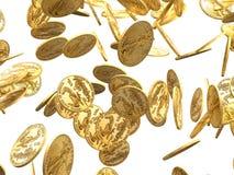 золото монеток 3d падая представляет Стоковое Изображение RF
