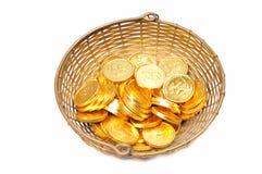 золото монеток стоковое изображение