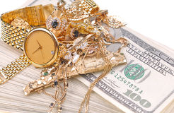 золото наличных дег Стоковое Изображение
