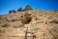 Золотодобывающий рудник в Death Valley Стоковое Изображение