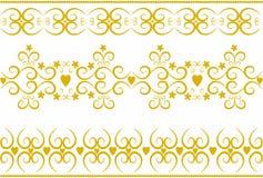 золото орнаментирует стильный вектор Стоковые Изображения