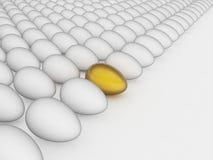 золото пасхального яйца принципиальной схемы Стоковые Фото