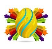 золото пасхального яйца Стоковая Фотография RF