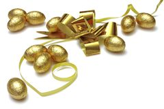 золото пасхальныхя Стоковые Фото