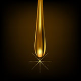 Золото падения на коричневой предпосылке с отражением Стоковая Фотография
