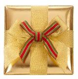 золото подарка коробки закрытое Стоковые Изображения