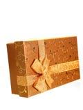 золото подарка коробки Стоковое фото RF
