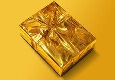 золото подарка коробки Стоковая Фотография