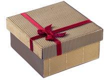 золото подарка коробки Стоковое Фото