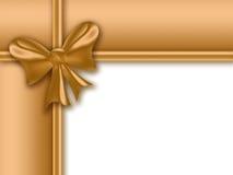 золото подарка рамки Стоковое Изображение RF
