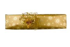 золото подарка Стоковые Изображения