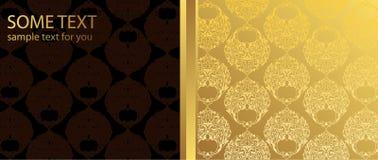 золото предпосылки коричневое Стоковые Фотографии RF