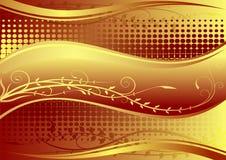 золото предпосылки флористическое Стоковая Фотография