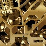 золото предпосылки Стоковые Изображения RF