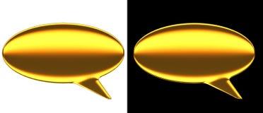 Золото пузыря текста Стоковое Изображение RF