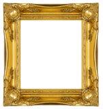 золото рамки богато украшенный Стоковая Фотография