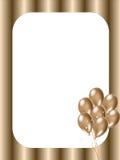 золото рамки воздушных шаров Стоковые Фотографии RF