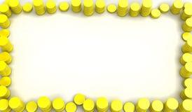 золото рамки монетки иллюстрация штока