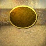 золото рамки предпосылки коричневое Стоковое Фото