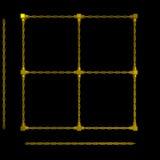 золото рамки цепей иллюстрация вектора
