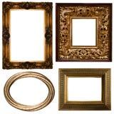 золото рамки Стоковые Изображения RF