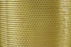 Золото решетки сетки металла стоковые изображения rf