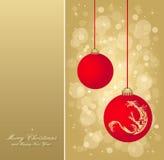 золото рогульки рождества Стоковые Изображения RF